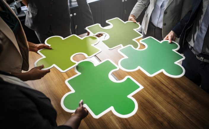 connectivity people work puzzle